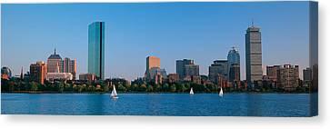 Buildings At The Waterfront, Back Bay Canvas Print by Panoramic Images
