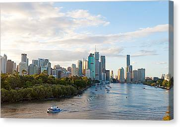Buildings At The Waterfront, Brisbane Canvas Print by Panoramic Images