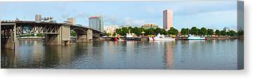 Buildings At The Waterfront, Morrison Canvas Print by Panoramic Images