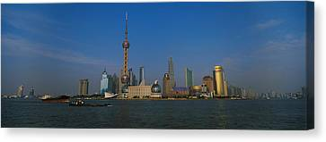 Buildings At The Waterfront, Oriental Canvas Print by Panoramic Images