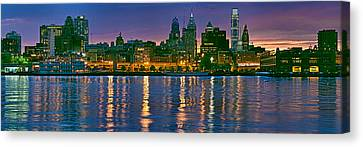 Buildings At The Waterfront, River Canvas Print by Panoramic Images