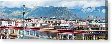 Buildings In A City, Lhasa, Tibet, China Canvas Print by Panoramic Images