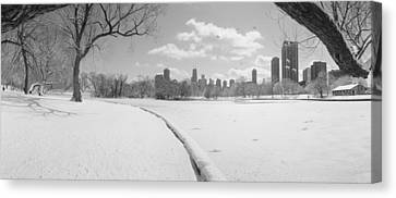 Buildings In A City, Lincoln Park Canvas Print by Panoramic Images