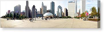 Buildings In A City, Millennium Park Canvas Print by Panoramic Images