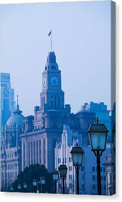 Buildings In A City, The Bund Canvas Print by Panoramic Images