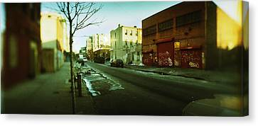 Buildings In A City, Williamsburg Canvas Print by Panoramic Images