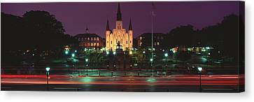 Buildings Lit Up At Night, Jackson Canvas Print by Panoramic Images