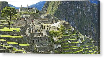 Buildings On A Hill, Andes Canvas Print by Panoramic Images