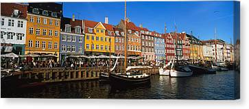 Buildings On The Waterfront, Nyhavn Canvas Print by Panoramic Images
