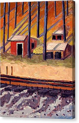 Built Of Iron And Wood Canvas Print by Charlie Spear