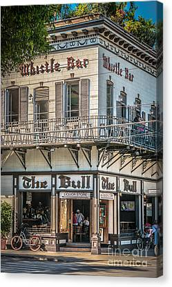 Bull And Whistle Key West - Hdr Style Canvas Print by Ian Monk