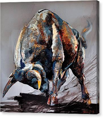 Bull Fight Canvas Print by Dragan Petrovic Pavle