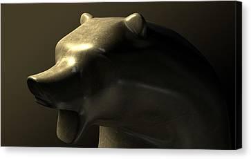 Bull Market Bronze Casting Contrast Canvas Print by Allan Swart