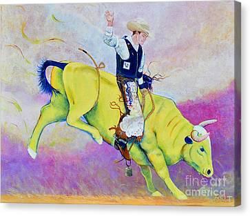 Bull Rider Wren Canvas Print by Christine Belt