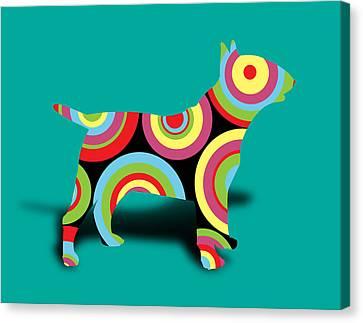 Bull Terrier Canvas Print by Mark Ashkenazi