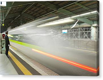 Bullet Train Canvas Print by Sebastian Musial
