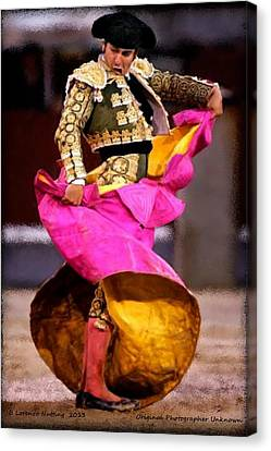 Bullfighter Dance Canvas Print by Bruce Nutting