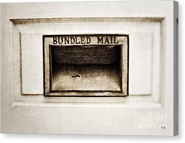 Bundled Mail Canvas Print by Scott Pellegrin