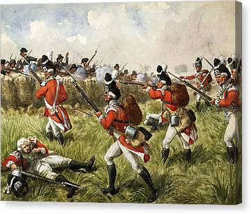Bunkers Hill, 1775, C.1900 Canvas Print by Richard Simkin