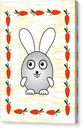 Bunny - Animals - Art For Kids Canvas Print by Anastasiya Malakhova