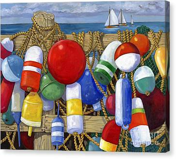 Buoy Composition Canvas Print by Paul Brent