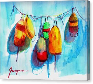 Colorful Buoys Canvas Print by Patricia Awapara
