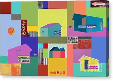 Burger Joint #1 Canvas Print by Elena Nosyreva