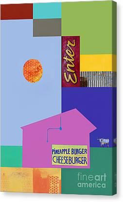 Burger Joint  #4 Canvas Print by Elena Nosyreva
