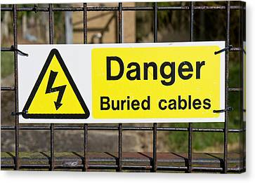 Buried Cables Canvas Print by Tom Gowanlock