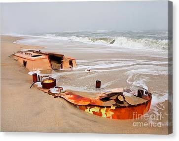 Buried Treasure On The Outer Banks II Canvas Print by Dan Carmichael
