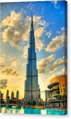Burj Khalifa Canvas Print by Syed Aqueel