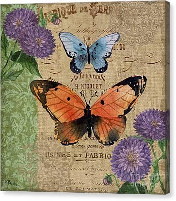 Burlap Butterflies II Canvas Print by Paul Brent
