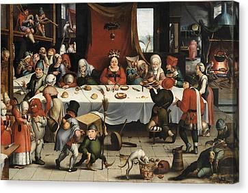 Burlesque Feast Canvas Print by Jan Mandijn
