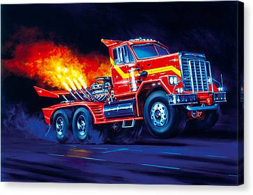 Burn Out Canvas Print by Garry Walton