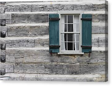 Burnham Log House Canvas Print by Mike Burgquist