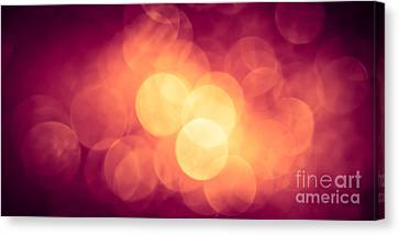 Burning Bokeh Canvas Print by Jan Bickerton