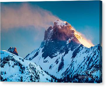 Burning Peak Canvas Print by Inge Johnsson