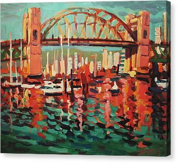 Burrard St. Bridge Canvas Print by Brian Simons