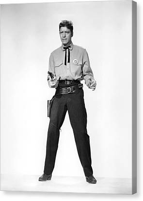 Burt Lancaster In Gunfight At The O.k. Corral  Canvas Print by Silver Screen