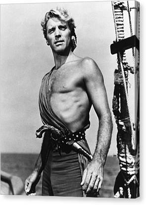 Burt Lancaster In The Crimson Pirate Canvas Print by Silver Screen