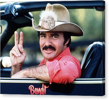 Burt Reynolds In Smokey And The Bandit  Canvas Print by Silver Screen