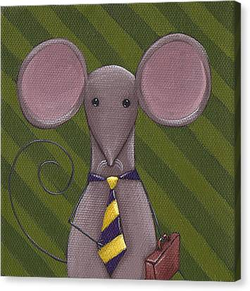 Business Mouse Canvas Print by Christy Beckwith