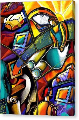 Business World Canvas Print by Leon Zernitsky