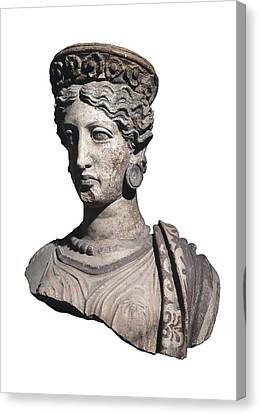 Bust Of A Woman. 4th C. Bc Canvas Print by Everett