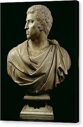 Bust Of Brutus Canvas Print by Michelangelo Buonarroti