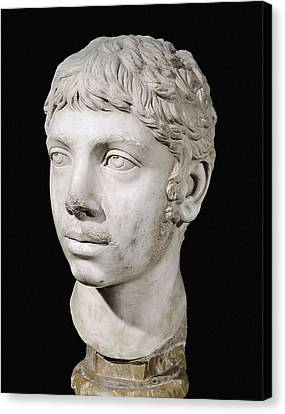 Bust Of Heliogabalus. 3rd C. Roman Art Canvas Print by Everett