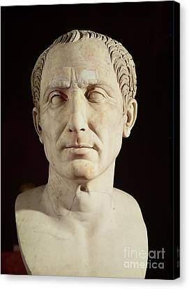 Bust Of Julius Caesar Canvas Print by Anonymous