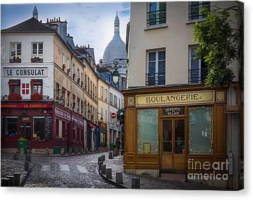 Butte De Montmartre Canvas Print by Inge Johnsson