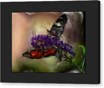 Butterflies At The Park Canvas Print by Kelly Gibson