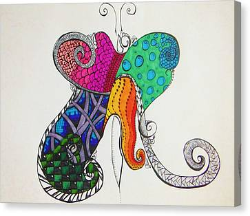 Butterflies Canvas Print by Lori Thompson